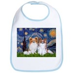 Starry Night & Papillon Bib