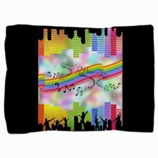Colorful Musical Theme Pillow Sham