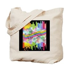 Colorful Musical Theme Tote Bag