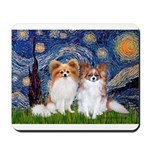 Starry Night & Papillon Mousepad