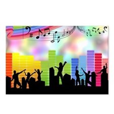 Colorful Musical Theme Postcards (Package of 8)