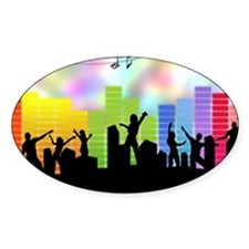 Colorful Musical Theme Decal