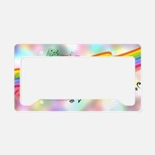 Colorful Musical Theme License Plate Holder