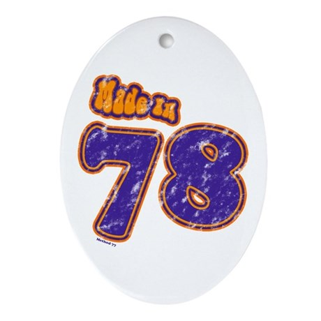 Made in 78 Oval Ornament