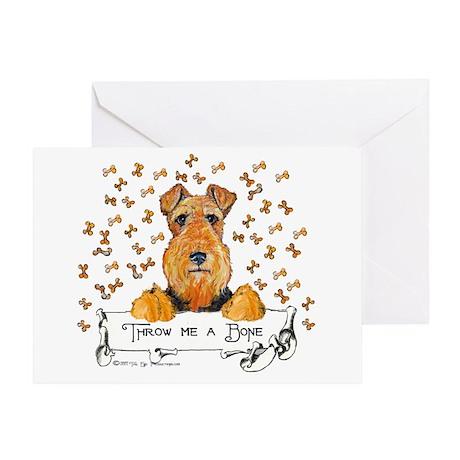 Welsh Terrier Bones Greeting Card