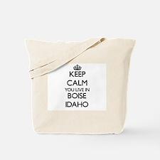 Keep calm you live in Boise Idaho Tote Bag