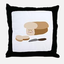Happy Bread Throw Pillow