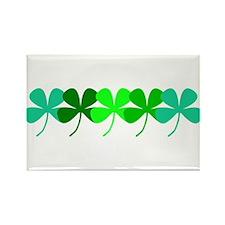 Irish Green 4 Leaf Clovers St. Patricks Da Magnets