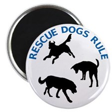 Rescue Dogs Rule Magnet