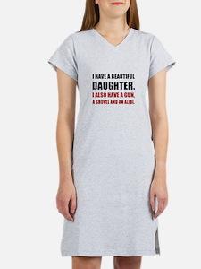 Beautiful Daughter Gun Women's Nightshirt