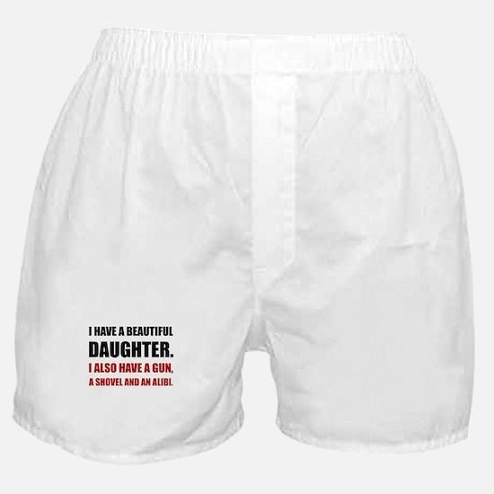 Beautiful Daughter Gun Boxer Shorts