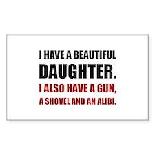 Beautiful Daughter Gun Decal