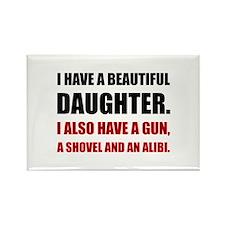 Beautiful Daughter Gun Magnets
