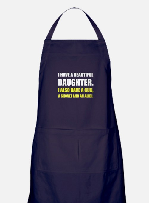 Beautiful Daughter Gun Apron (dark)