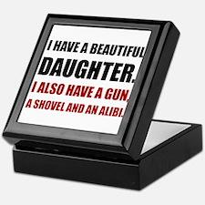 Beautiful Daughter Gun Keepsake Box