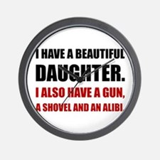 Beautiful Daughter Gun Wall Clock