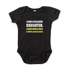 Beautiful Daughter Gun Baby Bodysuit
