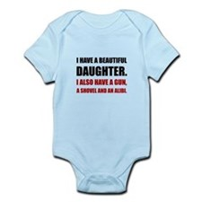 Beautiful Daughter Gun Body Suit