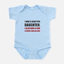 Beautiful Daughter Gun Body Suit