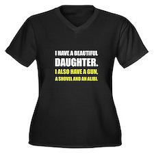 Beautiful Daughter Gun Plus Size T-Shirt