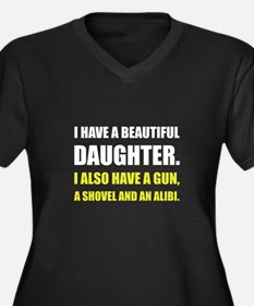 Beautiful Daughter Gun Plus Size T-Shirt