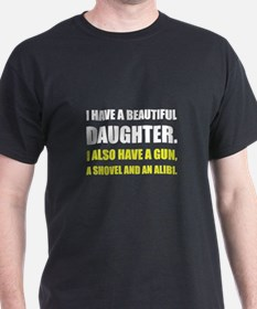 Beautiful Daughter Gun T-Shirt
