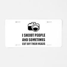 Camera Shoot Cut Head Aluminum License Plate