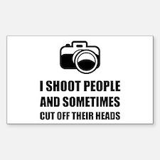 Camera Shoot Cut Head Decal