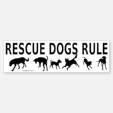 Rescue Dogs Rule Bumper Bumper Sticker