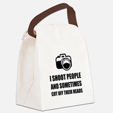 Camera Shoot Cut Head Canvas Lunch Bag