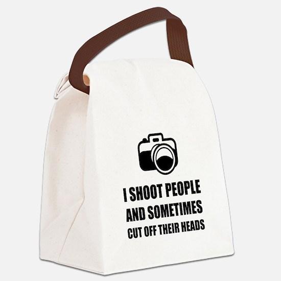 Camera Shoot Cut Head Canvas Lunch Bag
