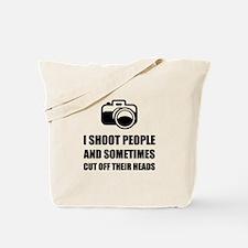 Camera Shoot Cut Head Tote Bag