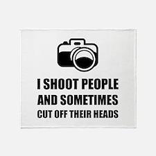 Camera Shoot Cut Head Throw Blanket