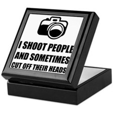 Camera Shoot Cut Head Keepsake Box