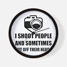 Camera Shoot Cut Head Wall Clock