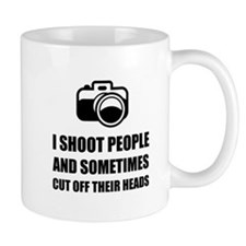 Camera Shoot Cut Head Mugs
