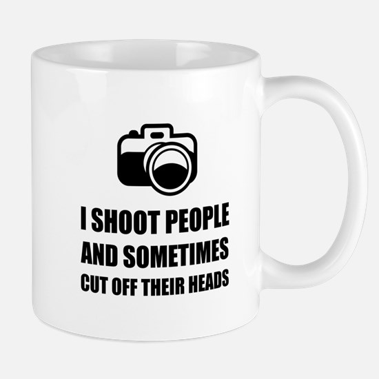 Camera Shoot Cut Head Mugs
