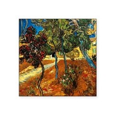 """Van Gogh - Trees in the Asy Square Sticker 3"""" x 3"""""""
