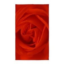 red rose of love Area Rug