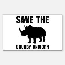 Chubby Unicorn Rhino Decal