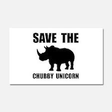 Chubby Unicorn Rhino Car Magnet 20 x 12