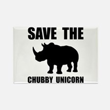 Chubby Unicorn Rhino Magnets