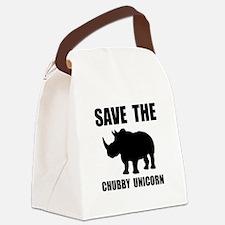 Chubby Unicorn Rhino Canvas Lunch Bag