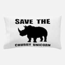 Chubby Unicorn Rhino Pillow Case