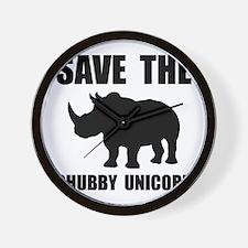 Chubby Unicorn Rhino Wall Clock
