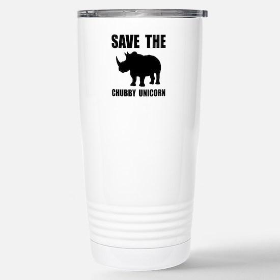 Chubby Unicorn Rhino Travel Mug