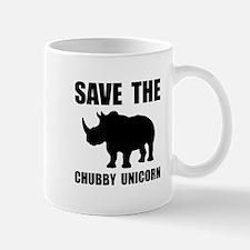 Chubby Unicorn Rhino Mugs