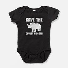 Chubby Unicorn Rhino Baby Bodysuit