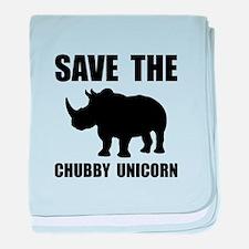 Chubby Unicorn Rhino baby blanket