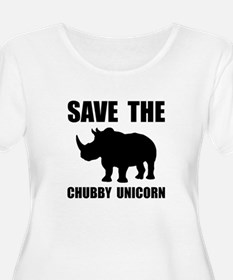 Chubby Unicorn Rhino Plus Size T-Shirt